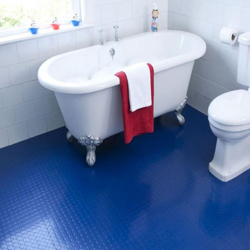 blue pvc bathroom flooring rs 55 square feet nandraj interio id rh indiamart com plastic bathroom floor one piece plastic bathroom floor cupboards