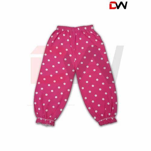 21514393540 Cotton Dot Print Kids Girls Night Pant