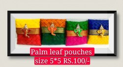 5x 5 Palm Leaf  Pouch