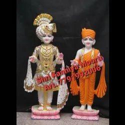 White Marble Swaminarayan Statue