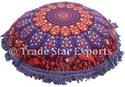 Round Fringe Pillow Cover