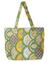 Striped Print Shopping Tote Bag
