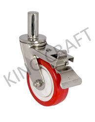 Stainless Steel Pin Type Fabricated Caster Break