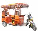 Orange Battery E Rickshaw