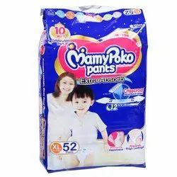 Cotton Pant Diapers XL52 Mamy Poko Pants Diaper