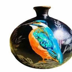 Handicraft Polished Terracotta Vase- Terracotta Home Decor