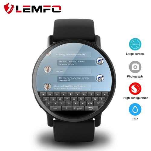 35bbb30b4 LEMFO LEM X Android 7.1 With 8MP Camera GPS 2.03 inch Screen 4G Smart Watch
