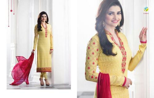 4edf2ddb17 Georgette Regular Wear Indian Traditional Suit Material, Rs 2999 ...