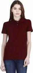 Stylish Plain Polo Neck T Shirt