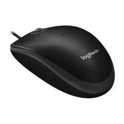 Logitech B100 Wired Optical Mouse USB 2.0, Black