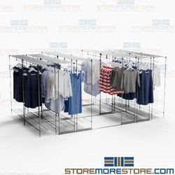 Black Clothing Store Rack, For Supermarket