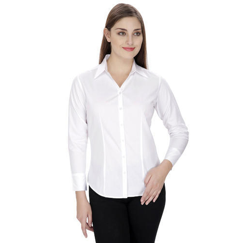 Ladies Full Sleeves White Shirts at Rs 265 /piece | Full Sleeve ...