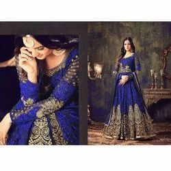 Ethnic Embroidered Ladies Wedding Gown