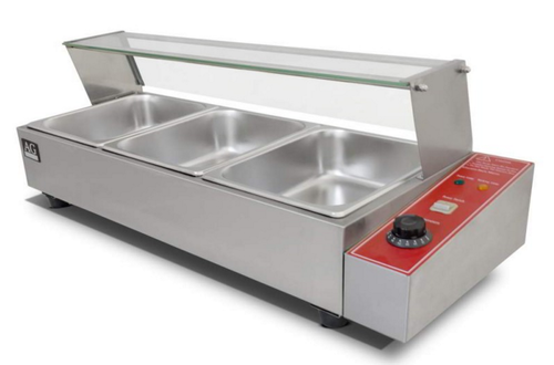 Silver Bain Marie with Glass Cover