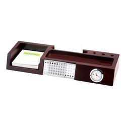 Life Time Wooden Calendar with Clock