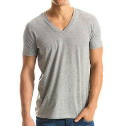 Casual Wear V Neck T Shirt, Gsm: 200