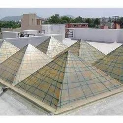 FRP Single Piece Pyramid Dome