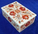 Marble Inlay Design Decorative Box, For Home, Rectangular