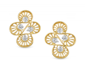 Yellow With Rhodium Orra Engage Stud Earring Ope15110