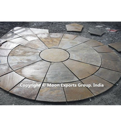 Rustic Slate Stone Round Off Kit Circle