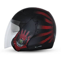 Plastic Dual Visor Open Face Helmet, Size: M And L