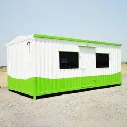 White And Green Steel Portable Site Office