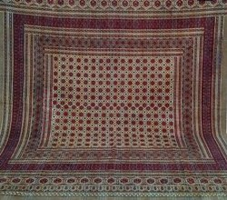 Cotton Ajrak Kantha Quilt