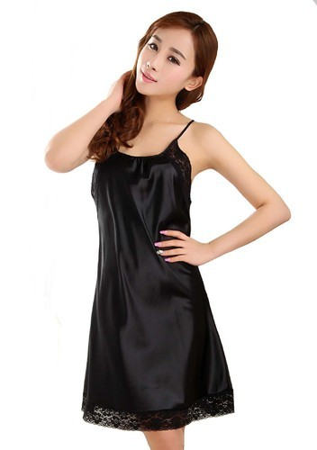 61d9febea Night Suits Plain Black Color Women Baby Doll