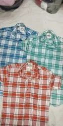 Slimfit Full Mens casual check shirts, Size: M To Xl