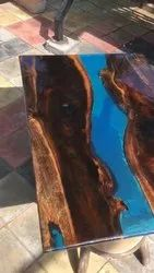 Brown Round 3D Epoxy Table, For Hotel