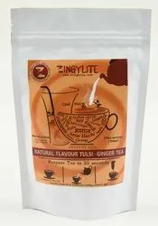 Zingysip Natural Tulsi - Ginger Herbal Tea ( 250 Gm.) With Burnt Sugar