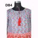 10 Cotton Hand Printed Women's Long Dress India DB4