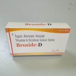 Trypsin 48 Mg Bromelain 90mg Rutoside Diclofenac Tablets