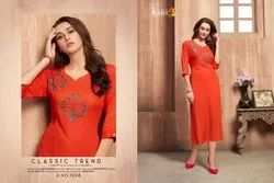 Womens Heavy Rayon Work Kurti