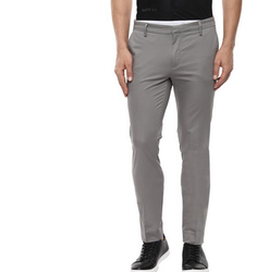 Grey Pencil Fit Cotton Trouser