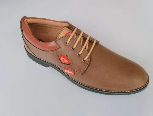 Lee Cooper Brown Mens Lace Up Leather