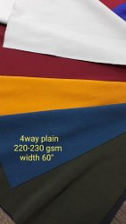 For sportswear 4way Plain fabric/Zurich Fabric