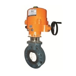 Electric Actuator Operated UPVC Body Butterfly Valve