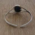 925 Sterling Silver And Brass Handmade Jewelry Garnet Gemstone Bangle Wb-5862