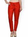 Ladies Cotton Slub Plain Casual Trouser Pant