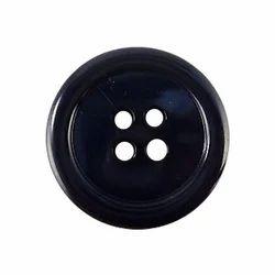 Black 4 Hole Coat Buttons