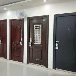 Hinged Single Door GI Security Door, Size: 7 x 3 Feet, Thickness: 60-70 mm