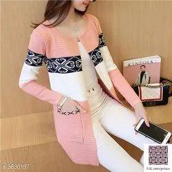 Full Sleeve Pink Ladies Fancy Jacket