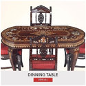 4 Seater Rosewood Dining Table Set