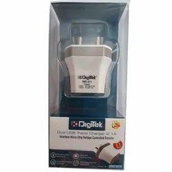 Digitek DMC-011 Dual USB Travel Charger, 5V DC