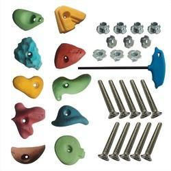 Medium Climbing Holds, Bolt, T-Nuts, LN Key