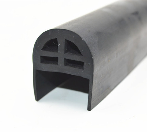 What metal strip with rubber seal
