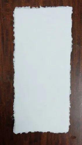 Handmade Deckle Edged Paper