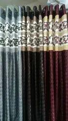 Tissue Jacquard Patch Curtain
