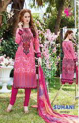 Pink Cotton Printed Suits
